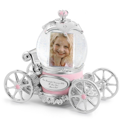 Princess Carriage Musical Snow Globe