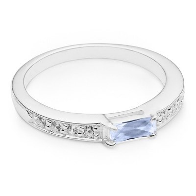 Silver Birthstone Rings - 24 products