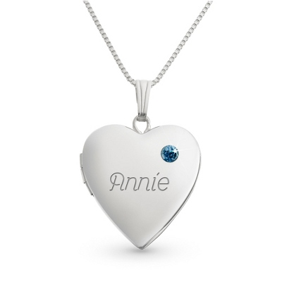 Sterling December Birthstone Locket with complimentary Filigree Keepsake Box - $54.99