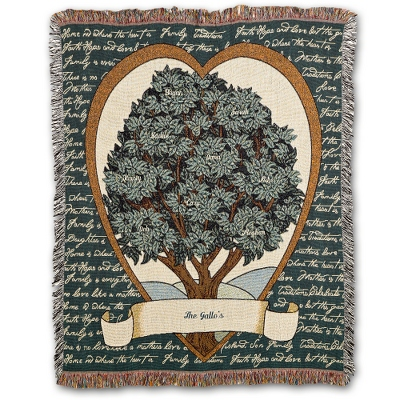 Family Tree Throw - $45.00