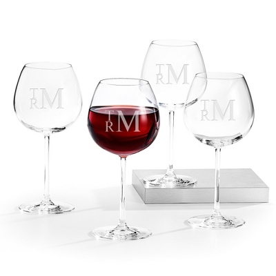 Monogram Glasses Wedding Gift