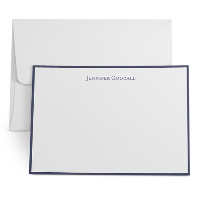 White Personalized Cards with Border