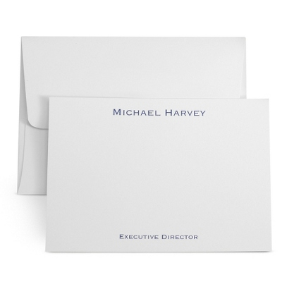 White Personalized Executive Cards