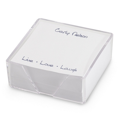 Personalized Memo Notes in Cube - $30.00