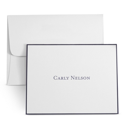 White Personalized Notes with Border - $35.00