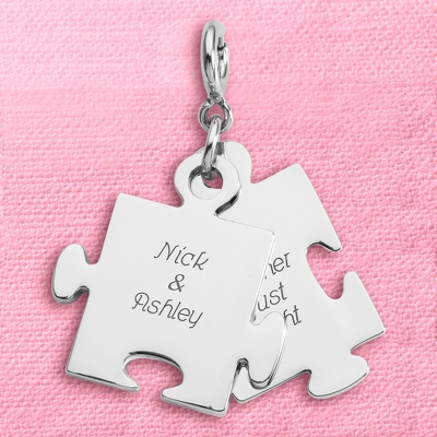 Engravable Silver Puzzle Piece - 4 products