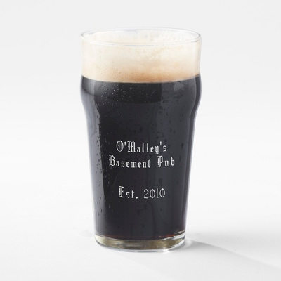 Personalized British Pint Glass - UPC 825008197558