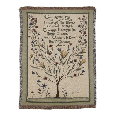 Serenity Prayer Throw - $45.00