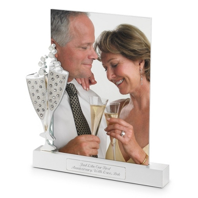 Champagne Flutes Float Frame