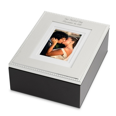 "Beaded 5"" x 7"" Photo Storage Box"