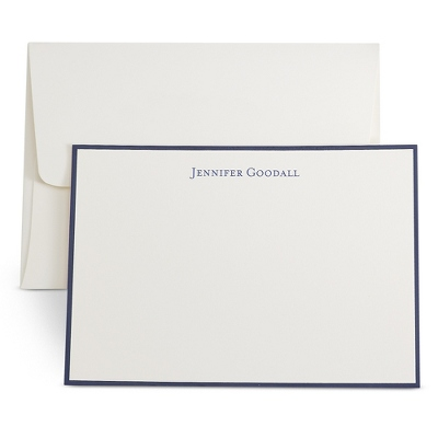 Ivory Personalized Cards with Border - UPC 825008199323