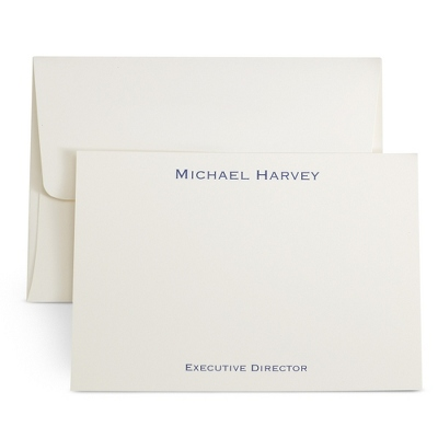 Ivory Personalized Executive Cards - $35.00