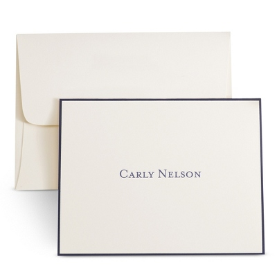 Ivory Personalized Notes with Border - $35.00