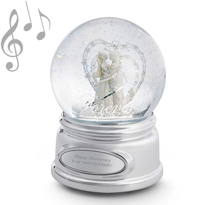 To Have and To Hold Wedding Musical Snow Globe