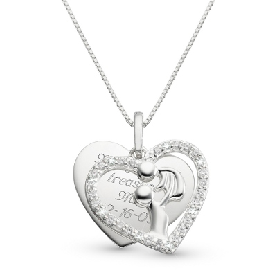 Sterling Miracle of Life Necklace with complimentary Filigree Keepsake Box - UPC 825008200401