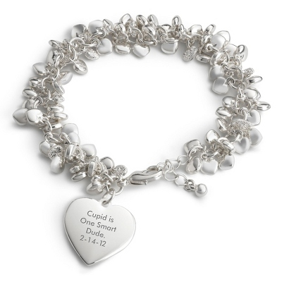 Puffed Heart Bracelet with complimentary Filigree Keepsake Box
