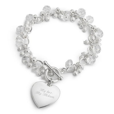 Crystal Drop Bracelet with complimentary Filigree Keepsake Box - $14.99