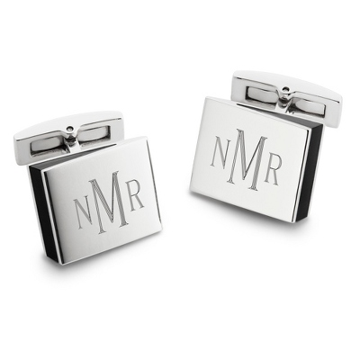 Wedge Cuff Links with complimentary Tri Tone Valet Box