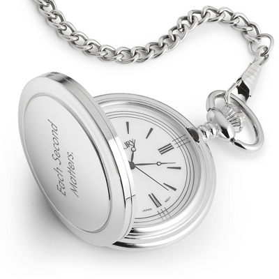 White Satin Pocket Watch