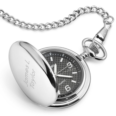 Carbon Fiber Pocket Watch - $60.00
