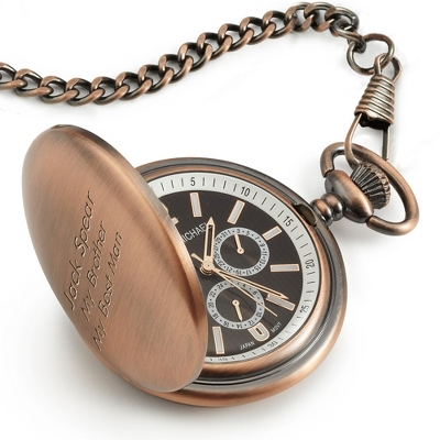 Satin Bronze Pocket Watch - Wrist Watches & Pocket Watches
