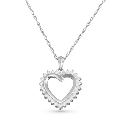 .25 CT Diamond Heart Necklace with complimentary Filigree Keepsake Box - $150.00