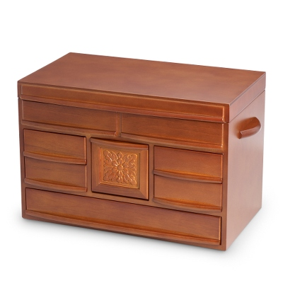 Large Walnut Wood Jewelry Box - UPC 825008203037