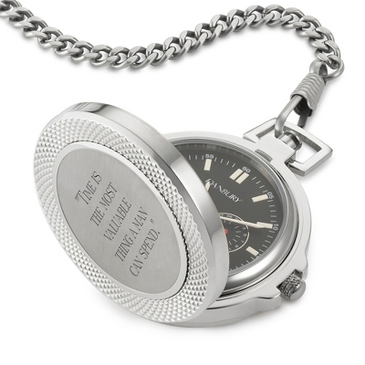 Stainless Steel/Titanium Pocket Watch