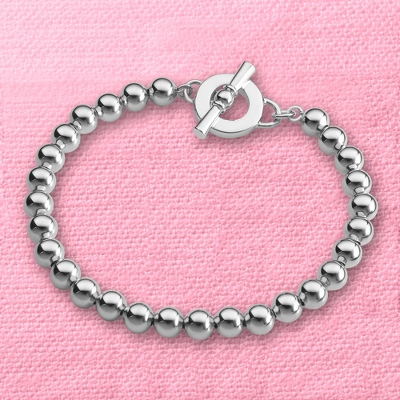 Silver Beaded Bracelets for Women