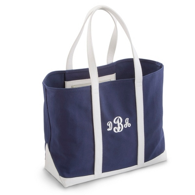 Polo Blue & White Tote - Embroidered Totes & Accessories