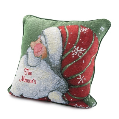 Santa Snow Fun Pillow - Stockings
