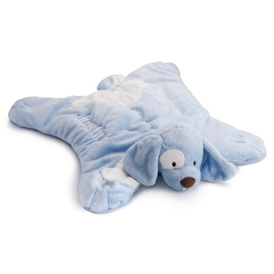 Personalized Blue Puppy Baby Blankets