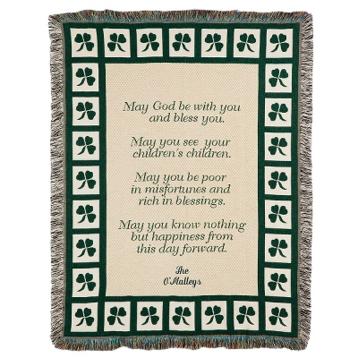 Irish Prayer Throw - $45.00
