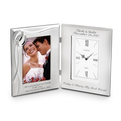 Double Rings Frame Clock - Wedding Frames & Albums