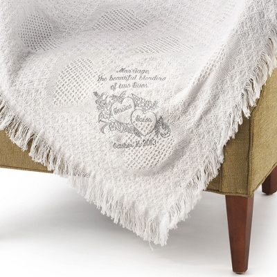 Embroidered Wedding Throws