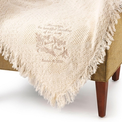 Blending of Lives Marriage Throw (Tan)