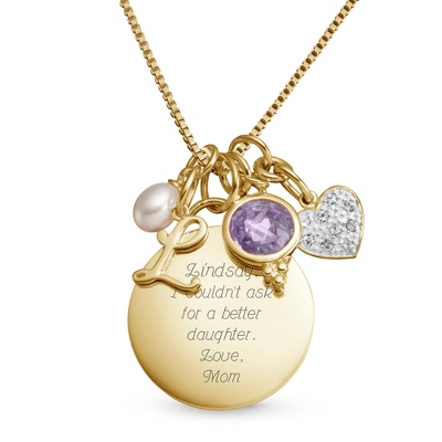 "14K Gold Over Sterling 18"" Custom Necklace with complimentary Filigree Keepsake Box - $65.00"