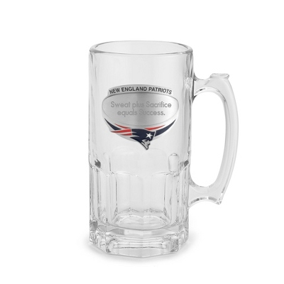 New England Patriots Moby Beer Mug - UPC 825008217416