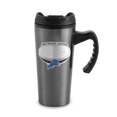 Detroit Lions Gunmetal Travel Mug