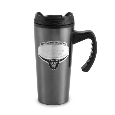 Oakland Raiders Gunmetal Travel Mug - $9.99