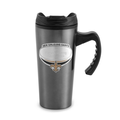 New Orleans Saints Gunmetal Travel Mug - $9.99
