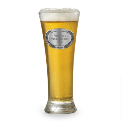 Wreath Pilsner Glass - Flasks & Beer Mugs