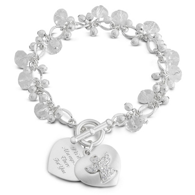 Engravable Bracelet with Two Hearts - 6 products