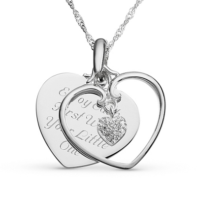 Piece Of My Heart Necklace with complimentary Filigree Keepsake Box - $29.99