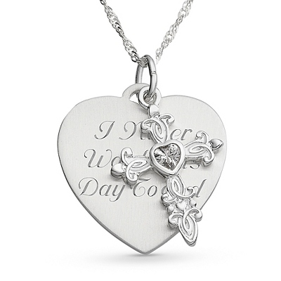 Necklace Heart Cross Girl - 5 products