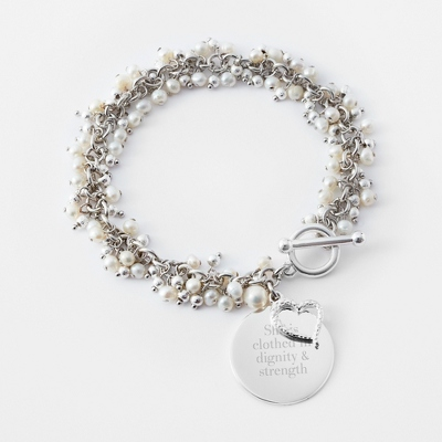 Pearl Flutter Bracelet with complimentary Filigree Keepsake Box - $24.99