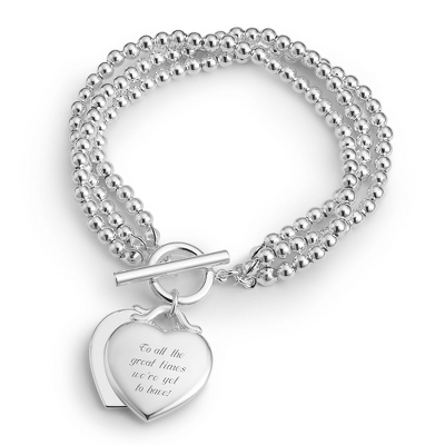 Double Heart Bracelet with complimentary Filigree Keepsake Box