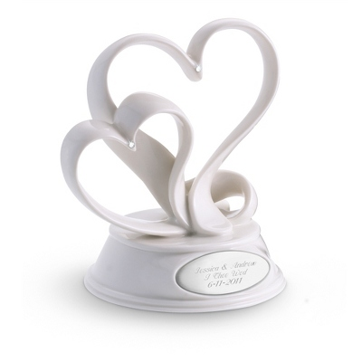 Ribbon Heart Cake Topper - Romantic Wedding