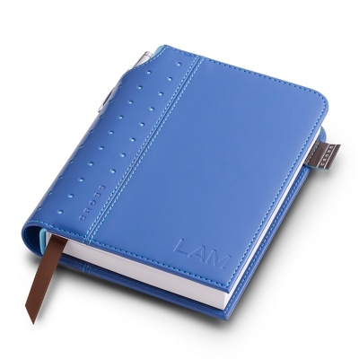 Small Cross Blue Leatherette Journal - Padfolios & Journals