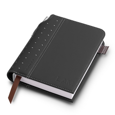 Small Cross Black Leatherette Journal - Padfolios & Journals